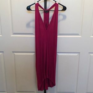 EXPRESS Hot Pink Razor back dress